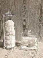 Органайзеры для палочек и ватных дисков акриловые 2 в 1