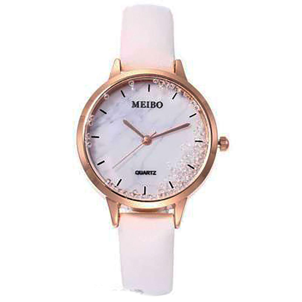 "Часы женские кварцевые ""Meibo Dimonds"" Белый опт"