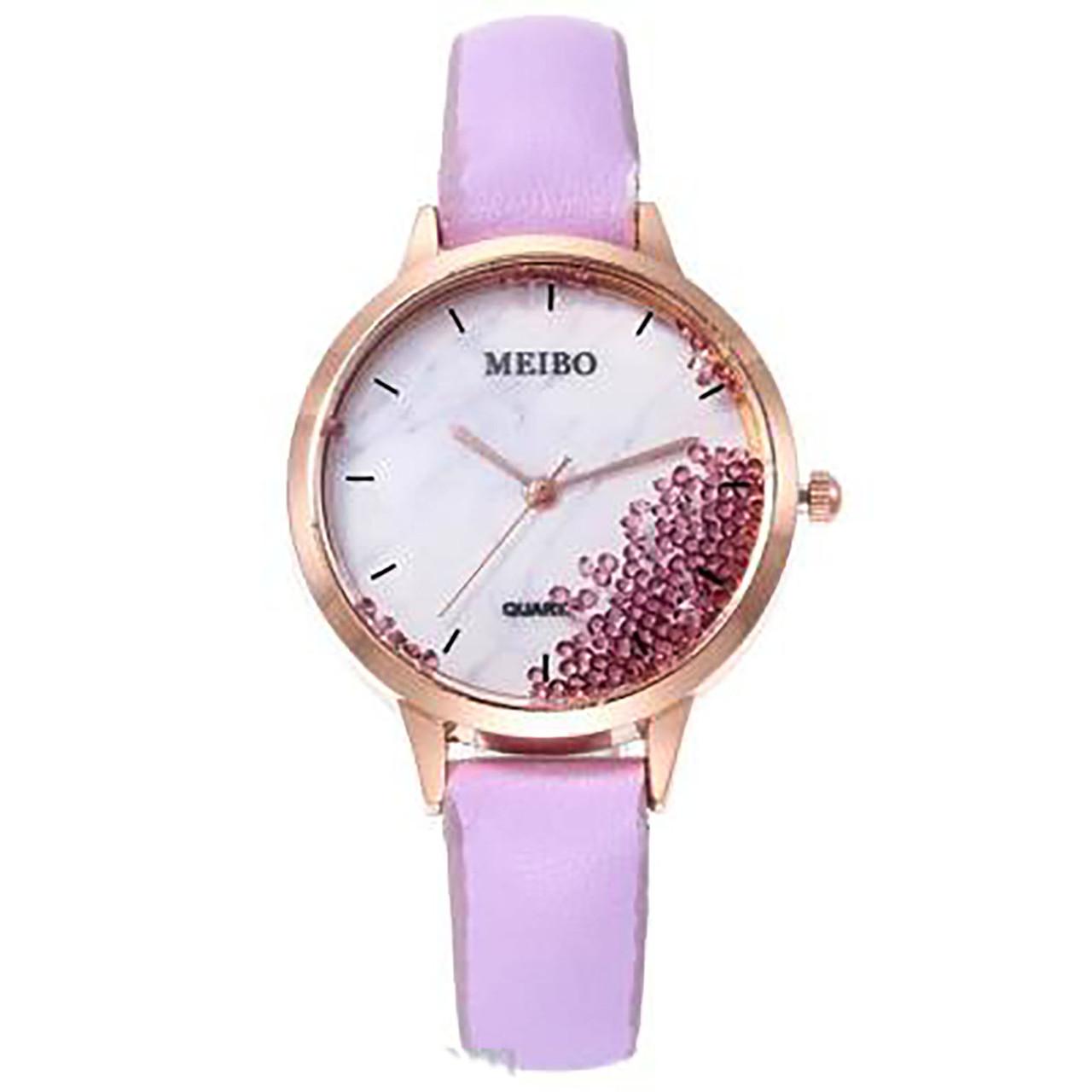 """Часы женские кварцевые """"Meibo Dimonds"""" Фиолетовый опт"""