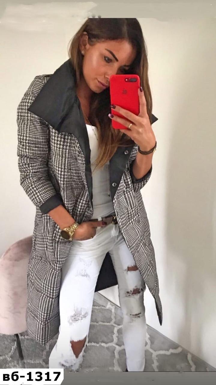 Стильное женское качественное двустороннее пальто одеяло