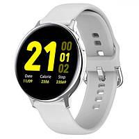 Умные смарт часы SMART WATCH S20 Silver серые силиконовый ремешок с измерением давления на Подарок