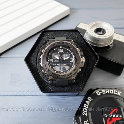 Годинник наручний Casio G-Shock GPW-1000 Black-Orange / касіо джишок помаранчеві