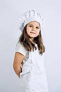 Фартук + Колпак детский latte kids 5-7 лет Белый, фото 4
