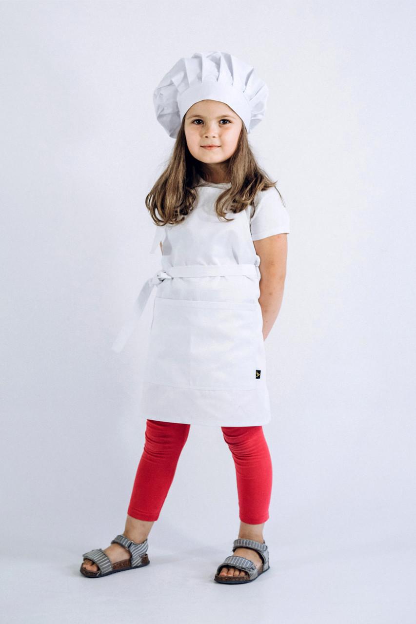 Фартук + Колпак детский latte kids 5-7 лет Белый