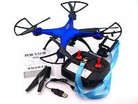 Квадрокоптер 1 million c hd камерой и WIFI, на пульте, радиоуправляемый коптер, летающий дрон с камерой Синий