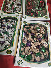 Цукерки великі з горіхами та фруктами асорті 500 r  в крафтовому пакеті