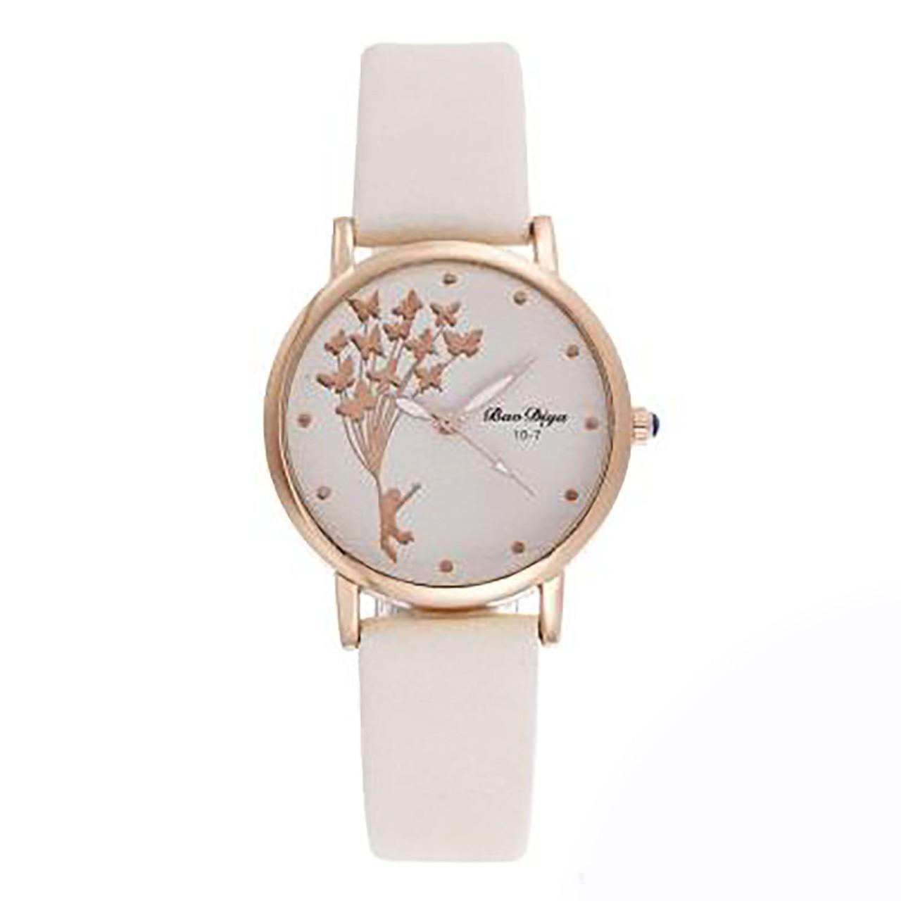"""Часы женские кварцевые """"Bao Diya"""" Белый опт"""