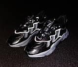 Мужские кроссовки Adidas Ozweego в стиле Адидас Озвиго ЧЕРНЫЕ (Реплика ААА+), фото 2