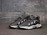 Мужские кроссовки Adidas Ozweego в стиле Адидас Озвиго ЧЕРНЫЕ (Реплика ААА+), фото 5