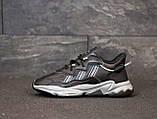 Мужские кроссовки Adidas Ozweego в стиле Адидас Озвиго ЧЕРНЫЕ (Реплика ААА+), фото 4