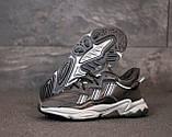 Мужские кроссовки Adidas Ozweego в стиле Адидас Озвиго ЧЕРНЫЕ (Реплика ААА+), фото 6