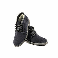 Мужские зимние классические ботинки S&T натуральная замша