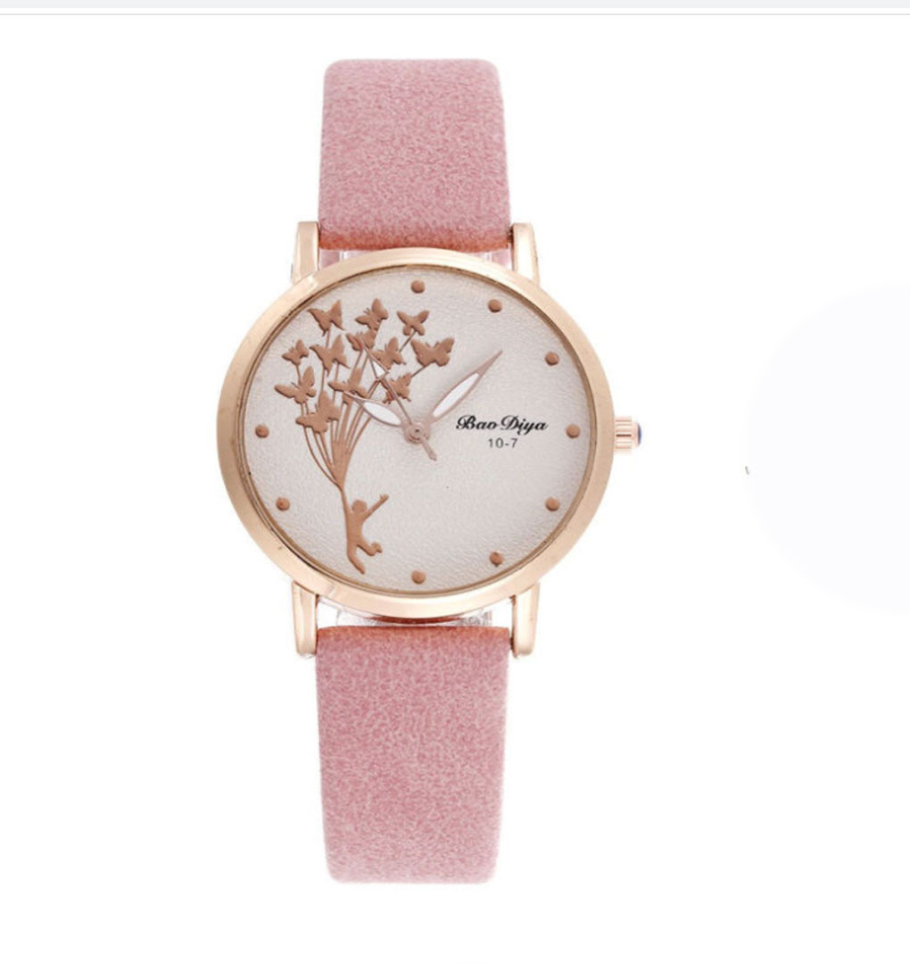 """Часы женские кварцевые """"Bao Diya"""" Розовый"""