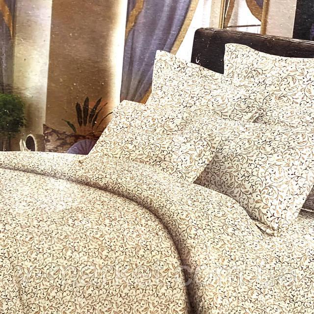постельное белье 3D белое с вензелем полуторное v-market.com.ua