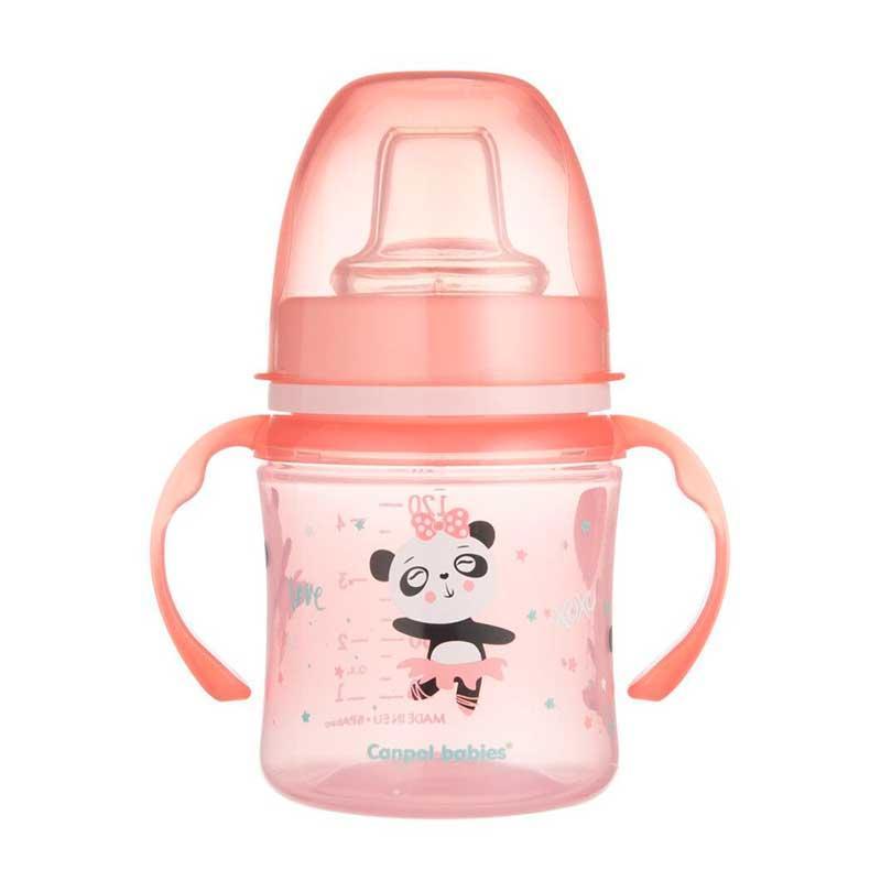 Кружка тренировочная Canpol Babies EasyStart, 35/207_pin Розовая, 120 мл