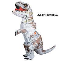 Надувной костюм Тираннозавра, T-Rex косплэй, костюм динозавра T-Rex. Тиранозавр надувной Белый