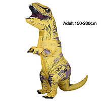 Надувной костюм Тираннозавра, T-Rex косплэй, костюм динозавра T-Rex. Тиранозавр надувной Жёлтый