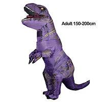 Надувной костюм Тираннозавра, T-Rex косплэй, костюм динозавра T-Rex. Тиранозавр надувной Фиолетовый