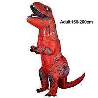 Надувной костюм Тираннозавра, T-Rex косплэй, костюм динозавра T-Rex. Тиранозавр надувной Красный