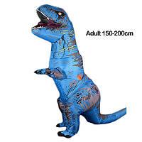 Надувной костюм Тираннозавра, T-Rex косплэй, костюм динозавра T-Rex. Тиранозавр надувной Синий