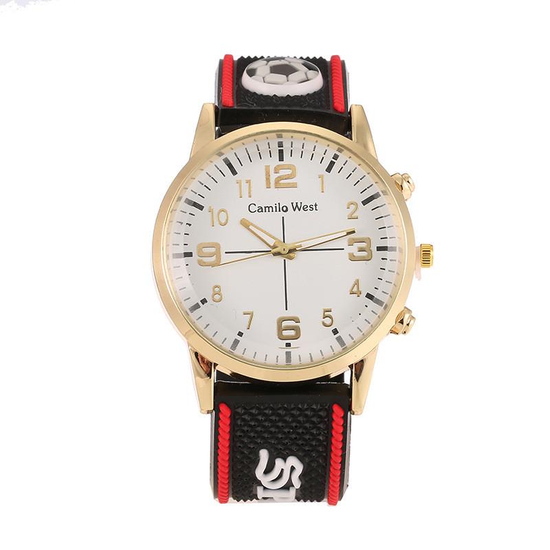 Часы мужские Camilo West  Sport на силиконовом ремешке. Красный
