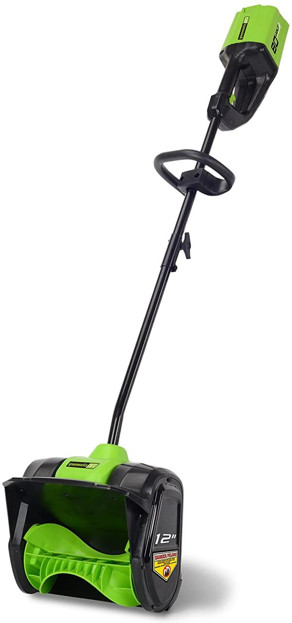 Снегоуборочная лопата бесщёточная аккумуляторная Greenworks GD80SS30 80V ( 2600707)  (30 см) без АКБ и ЗУ