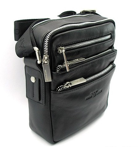 c6c4df4a4a75 Сумка мужская кожаная на плечо черная Giorgio Armani 561-2 -  Интернет-магазин