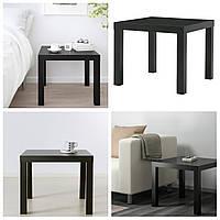 Стильный журнальный столик IKEA LACK 55x55 см ИКЕА ЛАКК черный квадратный кофейный столик