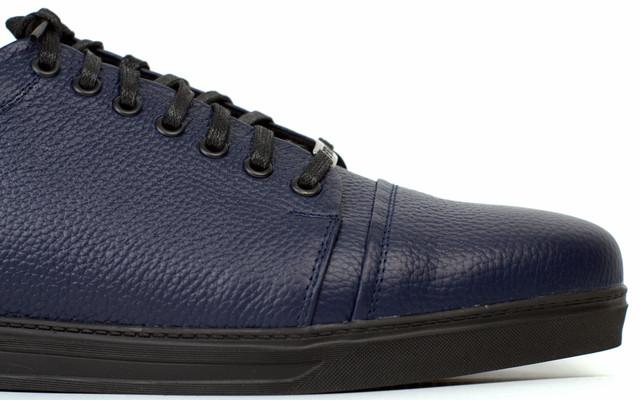 Сині кросівки шкіряні чоловіче взуття великих розмірів демісезонна Rosso Avangard Gushe Flot Blu BS