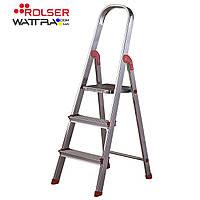 Стремянка Rolser Escalera Unica 3 ступени (UNI001) алюминиевая