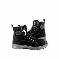 Мужские зимние высокие ботинки натуральная замша