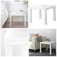 Журнальный глянцевый столик IKEA LACK белый 55x55см ИКЕА ЛАКК квадратный кофейный столик