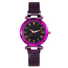 Часы кварцевые  Abeer Romа браслете с магнитом. Фиолетовый