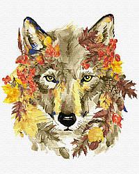 Картина по номерам gx26950 Осенний волк, 40х50 см., Rainbow Art