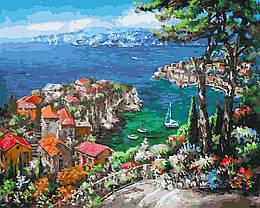 Картина по номерам GX27235 Лазурный берег, 40х50 см., Rainbow Art