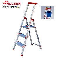 Стремянка Rolser Escalera Brico 220 - 3 широкие ступени (BRI025) алюминиевая
