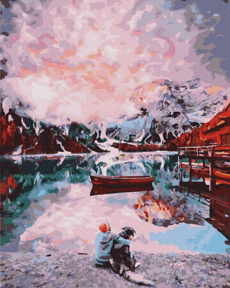 Картина по номерам GX32635 Альпы с псом, 40х50 см., Rainbow Art