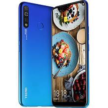 """Смартфон Tecno Spark 4 3/32Gb с большим безрамочным экраном 6,52"""" с тройной камерой и сканером отпечатка синий"""