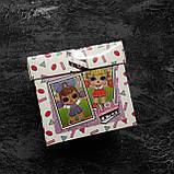 Подарок в коробке блестящая кукла глиттер шар ЛОЛ | L.O.L. Surprise 8 Surprises LOL, фото 2