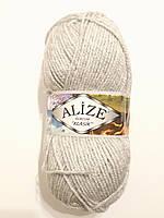 Пряжа акриловая Alize Burcum Klasik 100% акрил 100 гр, 210 м, серый светлий 208