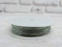 Проволока  0,3 мм. Цвет-серебро, 50 метров