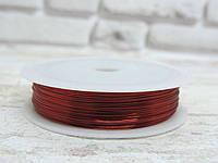 Проволока  0,3 мм. Цвет-красный, 50 метров