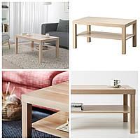 Журнальный столик IKEA LACK 90x55 см под белёный дуб ИКЕА ЛАКК прямоугольный кофейный стол
