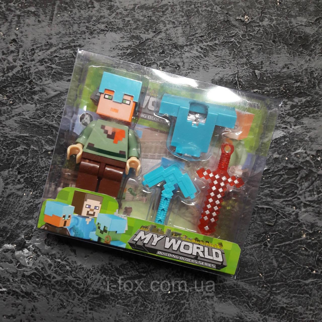 Коллекционная фигурка Minecraft + броня