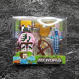 Коллекционная фигурка Minecraft + броня, фото 3