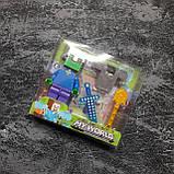 Коллекционная фигурка Minecraft + броня, фото 5