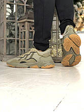 Мужские кроссовки Adidas Ozweego в стиле Адидас Озвиго ХАКИ (Реплика ААА+)