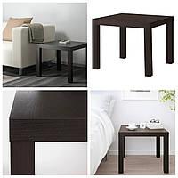Журнальный столик IKEA LACK черно-коричневый 55x55см ИКЕА ЛАКК квадратный кофейный столик