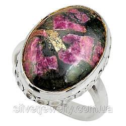 Серебряное кольцо с ЭВДИАЛИТОМ  (натуральный!!!), серебро 925 пр. Размер 18