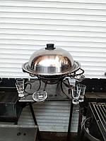Садж подставка для подачи и разогрева мяса и мясных блюд набор с соусницами и рюмками +уголь для разогрева
